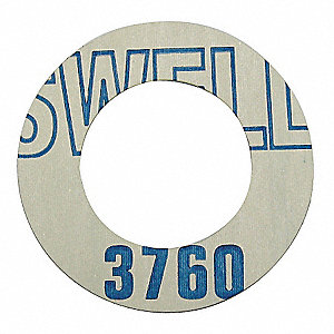 "Synthetic Fibers with a Proprietary Rubber Binder Gasket, 8-3/4"" Outside Dia., Blue and Off-White"