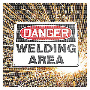 WELD SCRN WELDING SPARKS 6X6FT RED