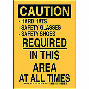 Caution Sign,14 x 10In,Black/Yellow