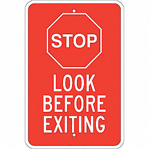 "Road Traffic Control, Stop, Aluminum, 18"" x 12"", With Mounting Holes, Not Retroreflective"
