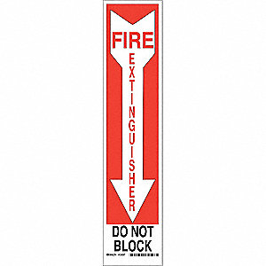 "Fire Equipment, No Header, Aluminum, 18"" x 4"", With Mounting Holes, Not Retroreflective"