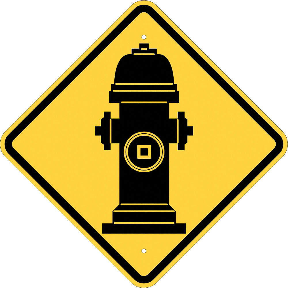 Brady Symbol Fire Hydrant Plastic Parking And Traffic Signs