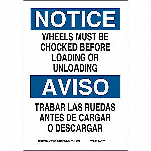 "Bilingual Safety Sign,14"" x 10"""
