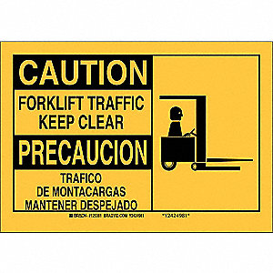 "Safety Sign,7"" x 10"",Polyester"