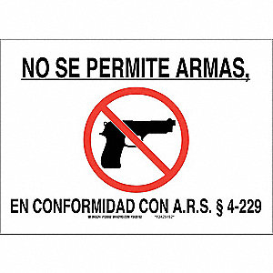 Security Sign,10 x 14In,Blk and Red/Wht
