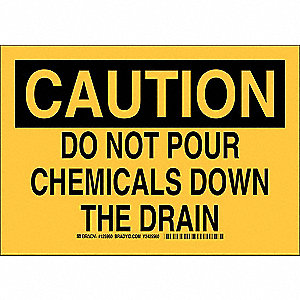 Caution Sign,7 x 10In,Black/Yellow