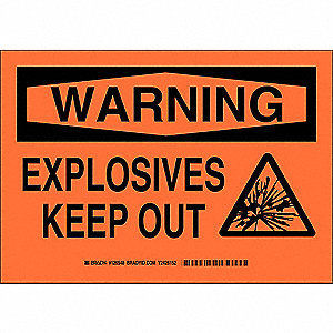 "Chemical, Gas or Hazardous Materials, Warning, Aluminum, 7"" x 10"", With Mounting Holes"