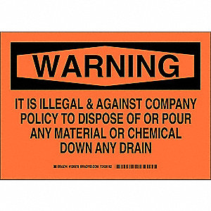 "Cleaning and Maintenance, Warning, Polyester, 7"" x 10"", Adhesive Surface, Not Retroreflective"
