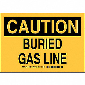"Chemical, Gas or Hazardous Materials, Caution, Plastic, 7"" x 10"", Not Retroreflective"