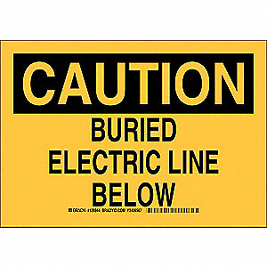 "Electrical Hazard, Caution, Plastic, 10"" x 14"", With Mounting Holes, Not Retroreflective"