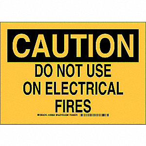 "Electrical Hazard, Caution, Aluminum, 10"" x 14"", With Mounting Holes, Not Retroreflective"