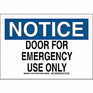 Notice Sign,7 x 10In,Blk and Ble/White