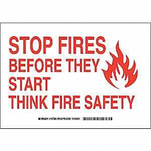 "Fire Equipment, Stop Fires, Aluminum, 10"" x 14"", With Mounting Holes, Not Retroreflective"