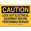 Lockout Tagout, Caution, Polyester, 7
