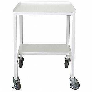 Powder Coated Steel Locking Castors Fume Hood Cart