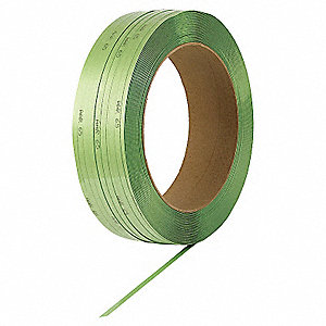 Plastic Strapping,HG,Green,1800 ft. L