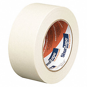 Paper Masking Tape, Rubber Tape Adhesive, 4.80 mil Thick, 48mm X 55m, Tan, 24 PK