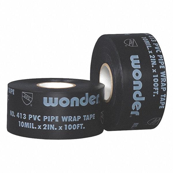 shurtape 50mmw pvc pipe wrap tape  black  30m length