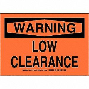 Warning Sign,10 x 14In,Black/Orange