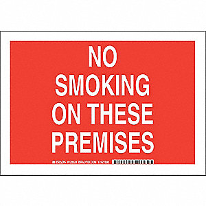 "No Smoking, No Header, Aluminum, 7"" x 10"", With Mounting Holes, Not Retroreflective"