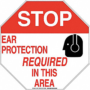 "Personal Protection Sign,18""x18"",Alum"