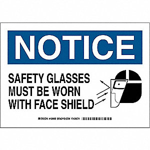 Notice Sign,10 x 14In,Blk and Ble/White