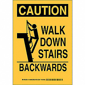 Caution Sign,10 x 7In,Black/Yellow