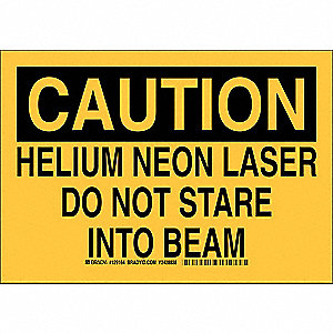 "Laser Hazard, Caution, Plastic, 10"" x 14"", With Mounting Holes, Not Retroreflective"