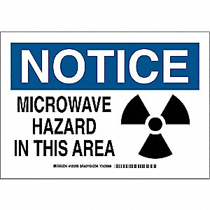"Health Hazard, Notice, Aluminum, 10"" x 14"", With Mounting Holes, Not Retroreflective"