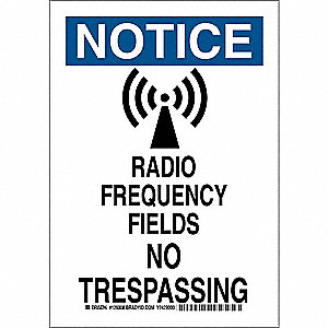 "Trespassing and Property, Notice, Polyester, 14"" x 10"", Adhesive Surface, Not Retroreflective"