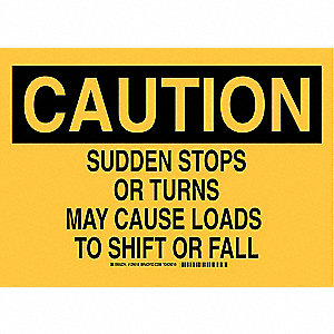 "Road Traffic Control, Caution, Aluminum, 7"" x 10"", Not Retroreflective"