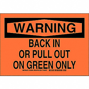"Road Traffic Control, Warning, Polyester, 7"" x 10"", Adhesive Surface, Not Retroreflective"