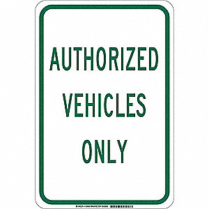 "Authorized Personnel and Restricted Access, No Header, Aluminum, 18"" x 12"", With Mounting Holes"