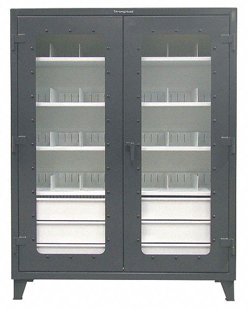 Strong Hold Heavy Duty Storage Cabinet Dark Gray 78 In H X 60 In W X 24 In D Assembled 40v629 56 Ld 244 6 5db 24div Grainger