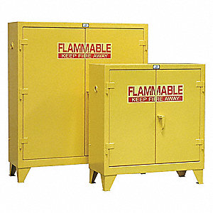 "60 gal. Flammable Cabinet, 66"" x 58"" x 18"", Manual Door Type"
