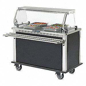 "52-13/32"" x 28-3/4"" x 28-45/64"" Stainless Steel Delivery Cart, Silver"