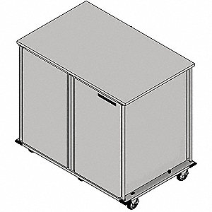 Food Tray Cart,2Doors,Pass-Thru,24 Trays