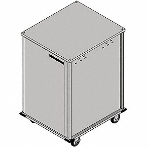 Food Tray Cart,1 Door,Pass-Thru,14 Trays