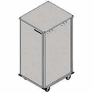 Food Tray Cart,1 Door,Pass-Thru,18 Trays