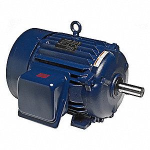 10 HP General Purpose Motor,3-Phase,1180 Nameplate RPM,Voltage 230/460,Frame 256T
