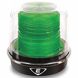 Warning Light, LED, Green, 120 VAC