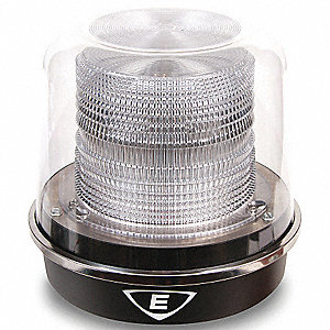 Warning Light, LED, White, 120 VAC