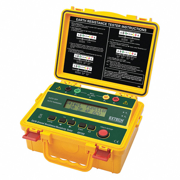 Extech Earth Resistance Tester : Extech earth resistance and resitivity tester zj