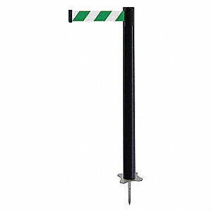 "Spike Post, Black Post, 43"" H"