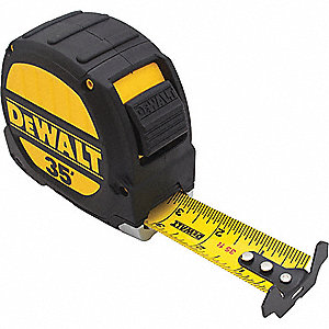 35 ft. Steel SAE Tape Measure, Black/Yellow