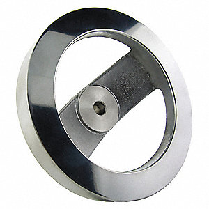 "Two Spoke Wheel, 8.00"" Diameter, Silver"