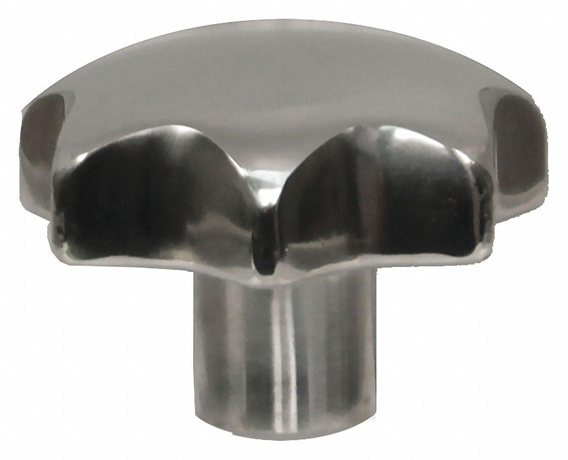 """10-32 External Thread KIPP K0154.4A1X10 Star Grip Knob SS Insert Style 0.39/""""L"""