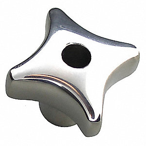 "Star Knob,2.48"" Diameter,Screw L 0.83"""