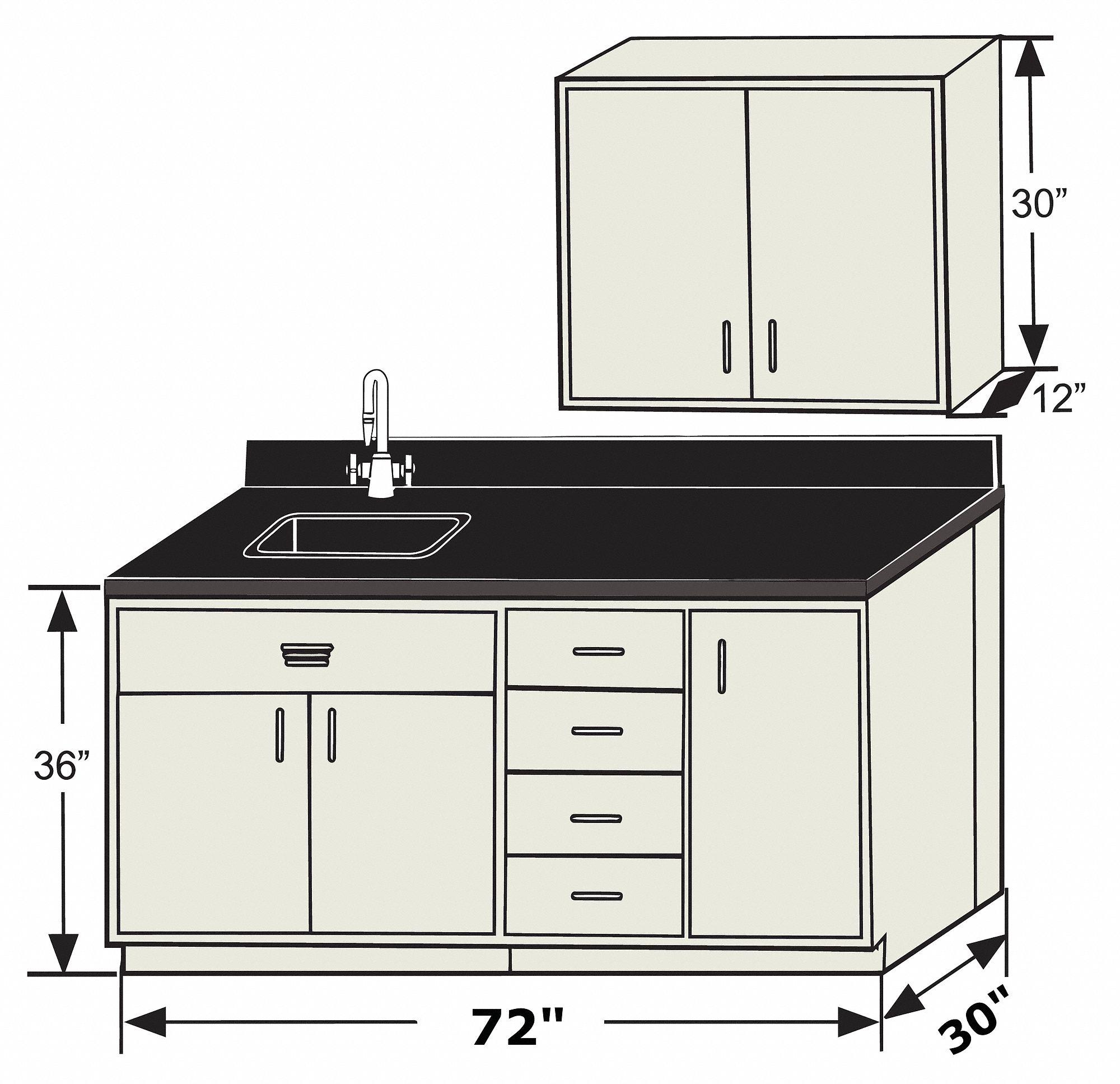 Hemco 72 In X 30 In X 36 In Phenolic Base Cabinet Silver Beige 410p25 70423 Grainger