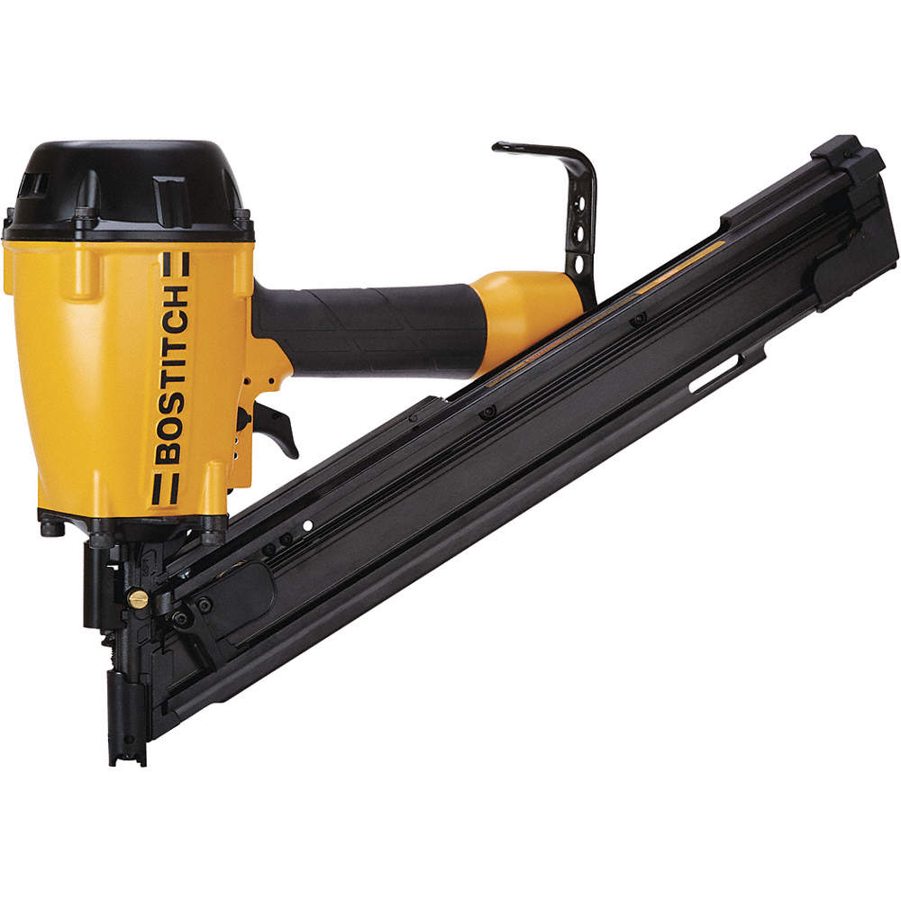 BOSTITCH Adhesive Air Framing Nailer, Yellow - 410X69|BTF83PT - Grainger